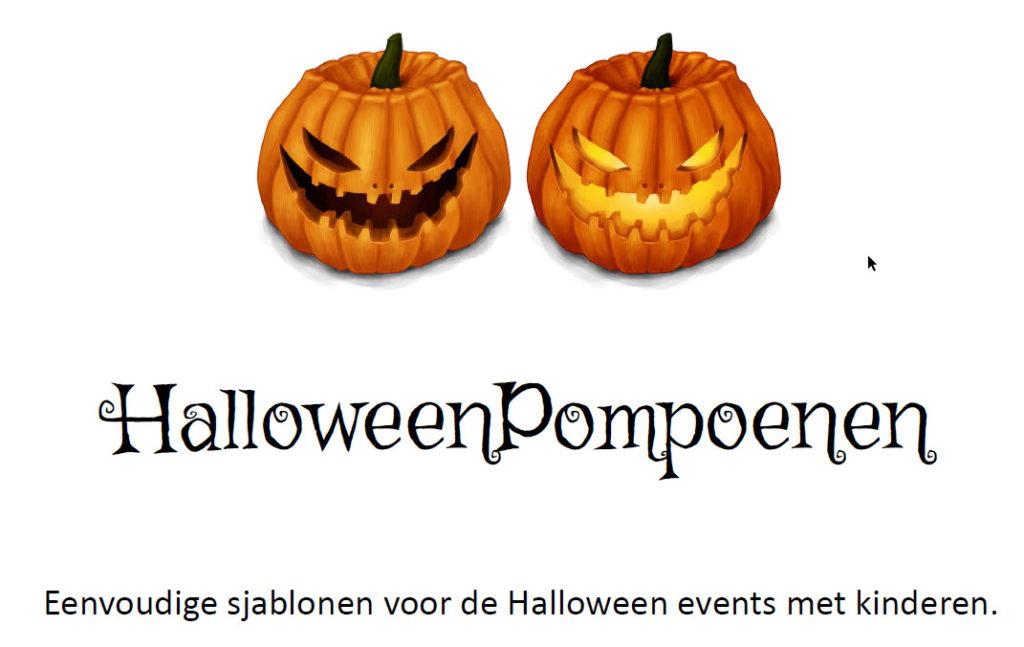 Halloween Pompoen sjablonen